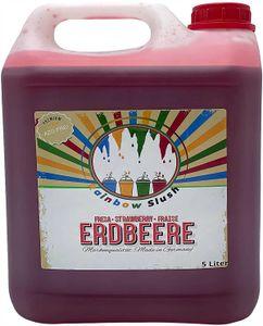 Rainbow Slush Sirup AZO FREI | Geschmack Erdbeere | Konzentrat für Slushy Maker Eis Slushmaschinen Eismaschinen Getränke 1:5