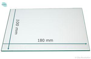 Ersatzglas für Grablaterne | Grablicht - Klarglas - nach Wunschmaß -  (18.0 cm x 10.0 cm)