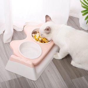 Erhöht Haustier Futterschale Doppelt Futterschale Futterschale für Hund Katze