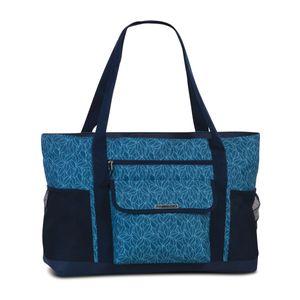 Fabrizio XL Strandtasche Badetasche Saunatasche sehr groß XXL Shopper Tasche - Blau (floral)