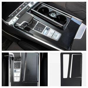 Mittelkonsole Armaturenbrett Veredelung Rahmen Blende Carbon Optik Passend Für Audi A6 A7 C8
