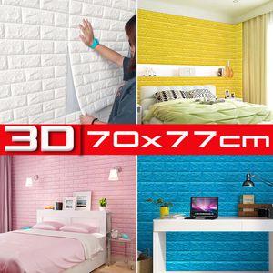 10 tlg 3D Tapete Wandpaneele Selbstklebend Ziegelstein Wasserdicht Wandaufkleber