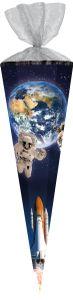 Jungen Schultüte 85cm Weltraum Rakete Nasa Astronaut JUAA7553