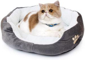 Schöne Tierbett Hundebett Haustier Katzenbett Hundesofa Katzensofa (Grau)