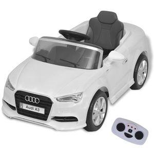vidaXL Kinder-Aufsitzauto mit Fernbedienung Audi A3 Weiß