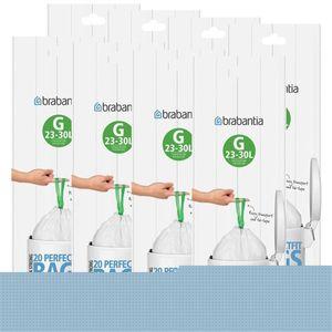 Brabantia Müllbeutel Smartfix (G) 23-30 Liter, 20 Mülltüten (8er Pack)