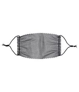 Mund-Nasen-Maske schwarz mit Strasssteinen SIX 623-140_SIX