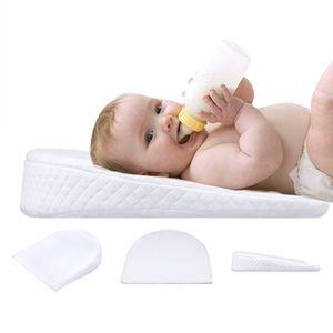 Babykissen Babykeilkissen Anti Reflux und Koliken Staukissen Flacher Kopf, weiß