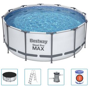 Bestway Steel Pro MAX Swimmingpool-Set Rund 366x122 cm