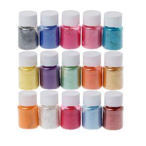 15 Farben Pulverfarbstoffe Epoxidharz Perle natürliches Micas Pulverpigment