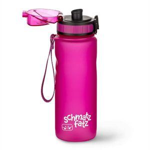 Klarstein schmatzfatz Trinkflasche Sportflasche 500 ml, kinderfreundlich, auslaufsicher, mit Fruchtaufsatz, Höhe: 24 cm, Durchmesser: 7 cm, mit Trageband, Kunststoff, BPA-frei, lila