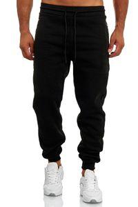 Herren Jogginghose Lässig Leichte Sweatpants Trainingshose SPORTY, Farben:Schwarz, Größe Hosen:XL