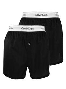 Calvin Klein Herren Slim Fit Boxershorts mit 2er-Packung, Schwarz M