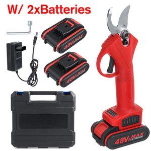 48V Akku Astschere Cordless Gartenschere Strauchschere Baumschere Mit 2 Red 48V 2 Battery