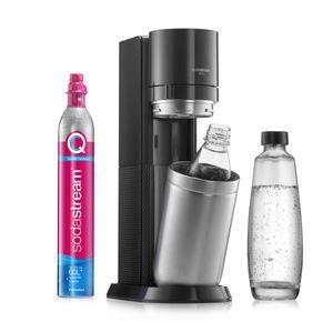 SodaStream DuoTitan Trinkwassersprudler, inkl. 1x 1 Liter Glasflasche, 1x 1 Liter PET, 1 x Quick Connect Zylinder