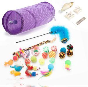 TK Gruppe Timo Klingler 31 TLG. Set Katzenspielzeug - Spielzeug für div. Katzen zur Beschäftigung & Selbstbeschäftigung - Spiel & Spaß mit dem Haustier/Katze