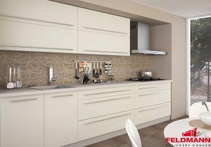 Küchenzeile Küchenblock 250cm grau / vanille matt Neu