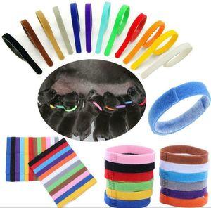 Melario 12× Haustierhalsband Welpenhalsbaender ID Halsband Klettband Welpen halsbänder