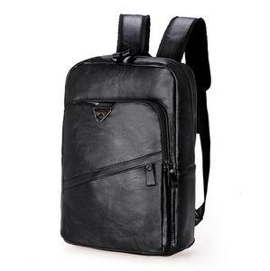 Rucksack Damen Herren Sport Schulrucksack Freizeit Leder Reise Wandern Arbeit Backpack,schwarz