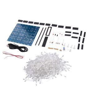 DIY 3D8S Blau Mini Cube 8 * 8 * 8 CUBE 8 Kits / Junior Geschenk Unterstützung Für