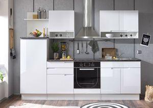 Sligo Küchenzeile Küchenblock Weiß Hochglanz MDF