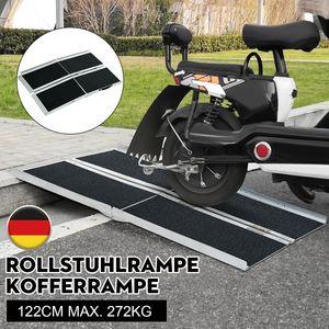 Neufu Rollstuhlrampe max. 272kg klappbar Alu Auffahrrampe doppelt Verladerampen Rampe Kofferrampe