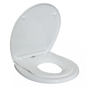 Sani-Dream Premium 1.1 WC-Sitz Toilettendeckel Toilettensitz Duroplast Absenkautomatik Soft-Close Abnehmbar Klodeckel. weiß