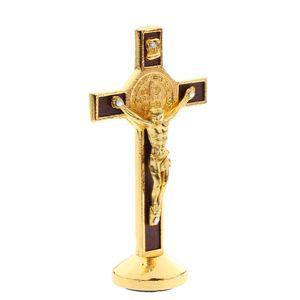 kruzifix jesus christus kreuz statue figur für auto hause kapelle decor gold Legierungs-Kruzifix wie beschrieben Christliches Kruzifix Katholisches Nachbildung