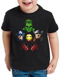 style3 Fab 4 T-Shirt für Kinder captain infinity iron stark hulk america, Größe:116