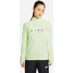 Nike W Nk Swoosh Run Hz Midlayer Barely Volt/White M