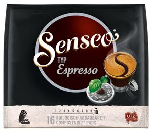 Senseo, Kaffeepads, Espresso 16 er, 111 g UTZ