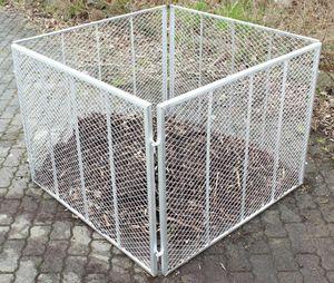Trutzholm Komposter Feuerverzinkt Metallkomposter aus Streckmetall Gartenkomposter 100x100x80 cm