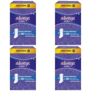 4 x Always Slipeinlage Extra Protect Long Plus Ohne Duft 54 Stück