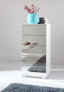 Wimex Kommode Easy Plus Schlafzimmer Schubladenkommode weiß Spiegel 49cm