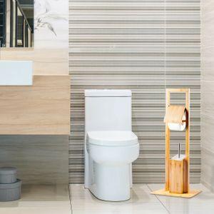 relaxdays WC Garnitur Bambus