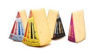 Appenzeller Käse AOP MILD-WÜRZIG KRÄFTIG-WÜRZIG EXTRA-WÜRZIG EDEL-WÜRZIG 4x300 Gramm