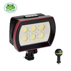 Seefroesche SL-22 LED Tauchlampe Unterwasserfotografie Einfuelllampe 6 Stk. LED Aluminiumlegierung 40M wasserdicht IPX8 mit weissen (stark-niedrig-SOS) / roten / blauen Lichtern max. 6000LM