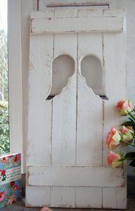 Landhaus Fensterladen ENGEL mit Engelsflügeln ,Shabby chic Handgefertigt