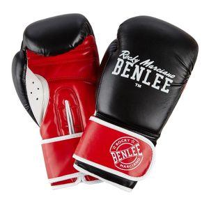 BENLEE Rocky Marciano Boxhandschuhe Unisex – Erwachsene Schwarz-Rot-Weiß, Größe:10 oz