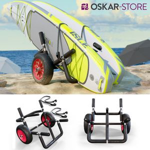 Oskar Transportwagen Doppel für 2x SUP Stand Up Paddle Surfboard Surfwagen Alu