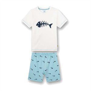 Sanetta Jungen Pyjamas-Nachtwäsche in der Farbe Weiß - Größe 140
