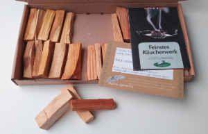 Kleine Stärkung: Palo Santo Räucherhölzer 24Stk feine kurze  Stäbe je ca 2-3 g, 1x1x5 cm lang, Holzstäbe aus Peru