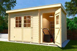 Gerätehaus Holz 28 mm Weka Gartenhaus 254 Gr.1 natur 390x246cm