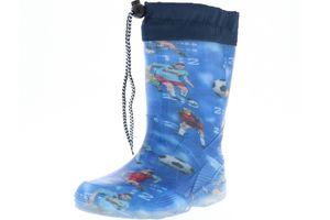 G&G Kinder Mädchen Jungen wasserdichte Gummistiefel Regenschuhe blau, Farbe:Blau, Größe:20