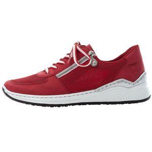 Rieker Damen-Schnürhalbschuh Rot, Farbe:rot, EU Größe:39
