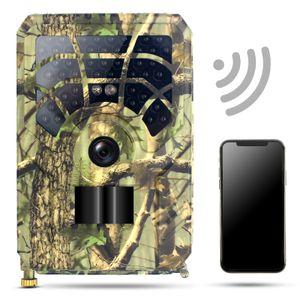 24MP 1296P WiFi Trail und Wildkamera Bewegungsaktivierte Jagdkamera Infrarot Nachtsicht Wasserdichte Outdoor Wildlife Scouting Kamera
