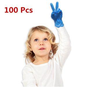 100 Stück Einweg Blaue Nitrilhandschuhe für Kinder Medizinische Handschuhe Nitrilhandschuhe