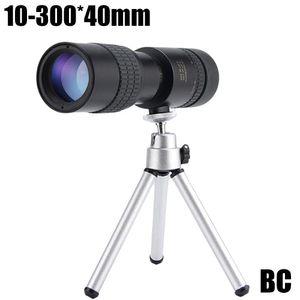 4K 10-300x40mm Super-Telezoom-Monokular-Teleskop Tragbares Monokular-Teleskop (Stativ nicht im Lieferumfang enthalten)