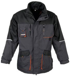 TERRATREND Parka Gr.M dunkelgrau/schwarz/orange 60%PES/40%CO