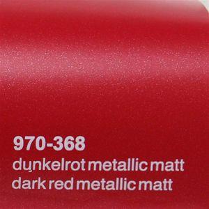 (17,1€/m²) Oracal 970RA Autofolie 368 Dunkelrot Metallic Matt Folie 152 cm Breite Laufmeterware gegossene Auto Folie selbstklebend